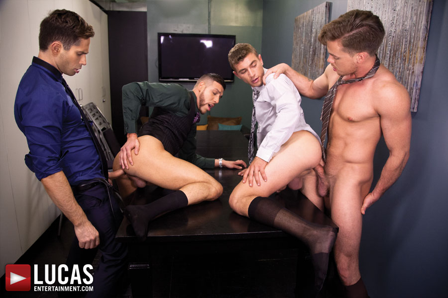 Gentlemen 12: Barebacking in the Boardroom - Gay Movies - Lucas Raunch