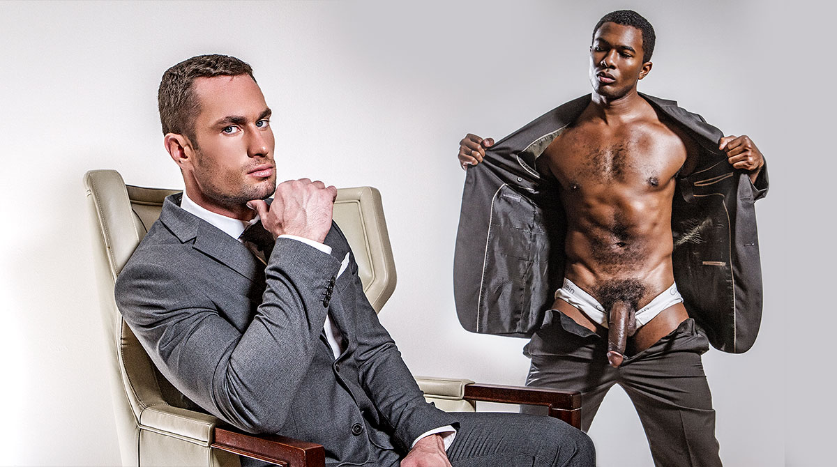 Two boyz in suits fuck