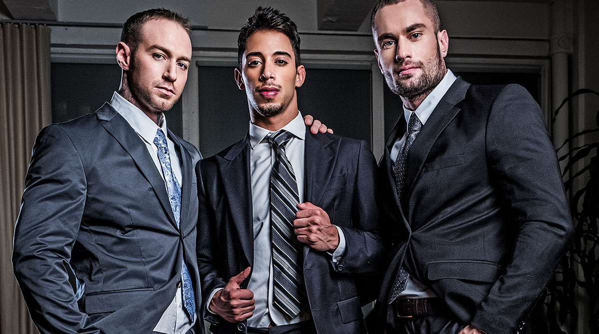 Drae Axtell's Corporate Threesome With Dylan James And Stas Landon